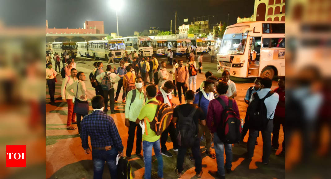 REET exam today: Bus stands see heavy rush of candidates, mobile internet suspended