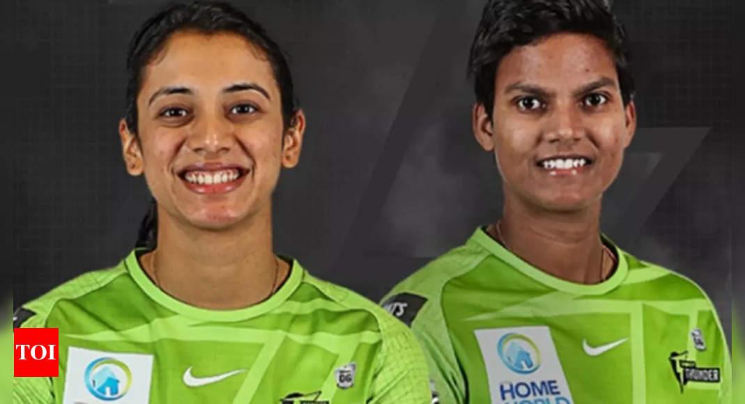 Smriti Mandhana, Deepti Sharma to play for Sydney Thunder in Women's Big Bash League | Cricket News – Times of India
