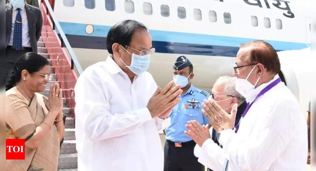 Vice President M Venkaiah Naidu arrives in Jaisalmer on five-day Rajasthan visit