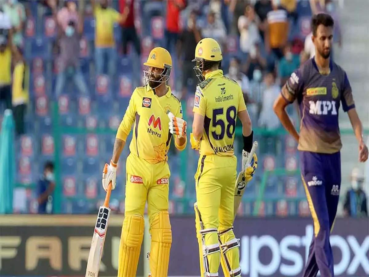 IPL 2021, CSK vs KKR: Jadeja cameo helps Chennai Super Kings beat Kolkata  Knight Riders by 2 wickets | Cricket News - Times of India