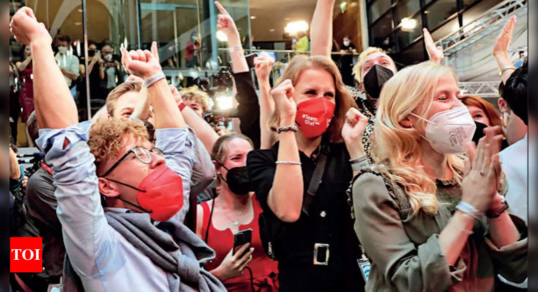 Merkel's conservatives & rival SPD neck and neck: Exit polls