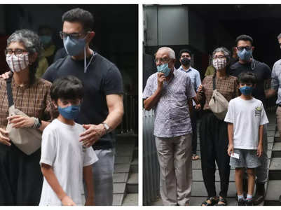 Aamir-Kiran go on a lunch date with son Azad