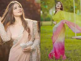 Unmissable sari looks of the 'Pawri' girl