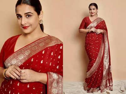 Vidya Balan just wore the perfect red bridal sari