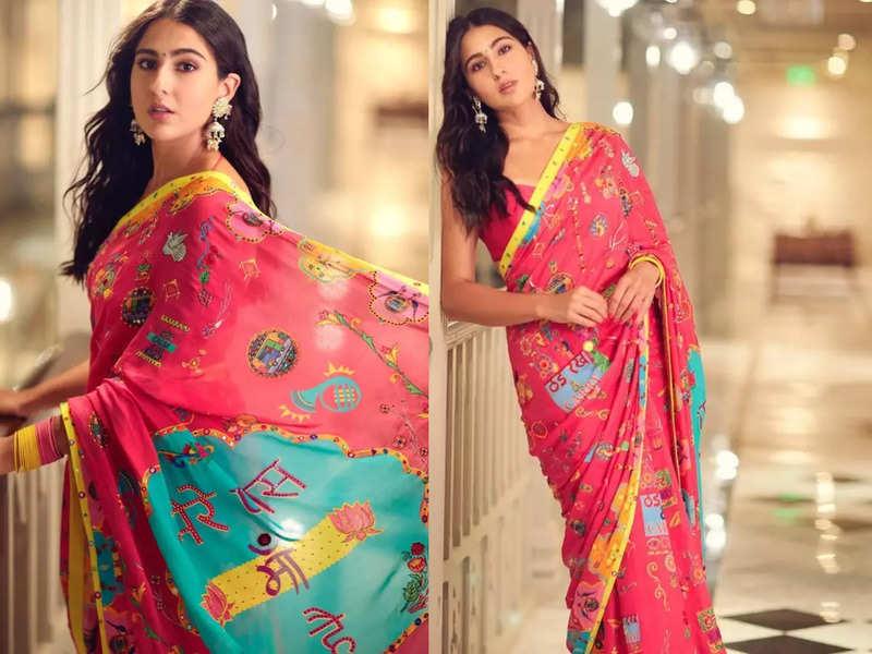 Sara Ali Khan's Mere Paas Maa Hai sari is the quirkiest one we have seen