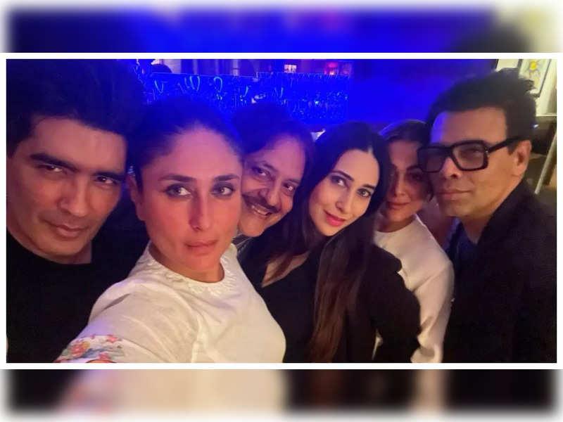 Inside Photos: Kareena Kapoor Khan is a vision in white as she parties with Karisma Kapoor, Karan Johar, Amrita Arora and others