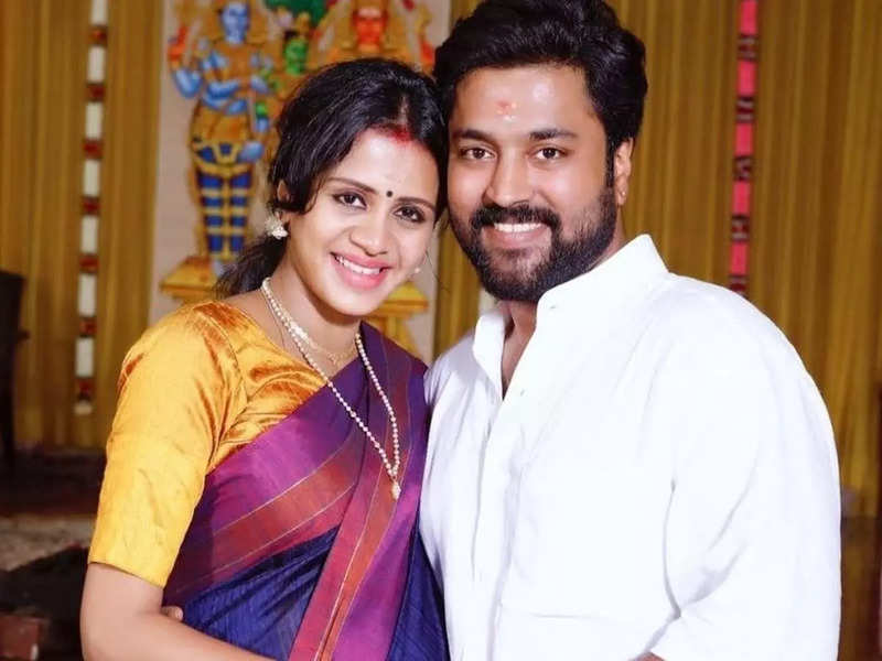 Chandran files a police complaint against a user for abusive comments on wife Anjana Ranjan's post