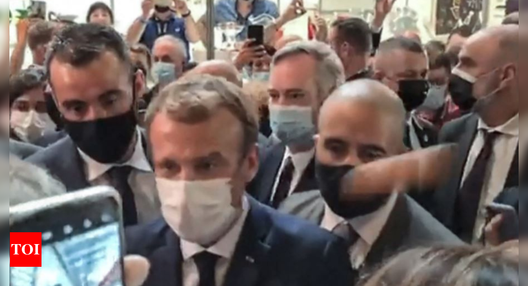 , Macron hit with egg during restaurant fair visit, The World Live Breaking News Coverage & Updates IN ENGLISH