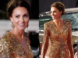 Golden girl! Kate Middleton glitters in sequined Jenny Packham