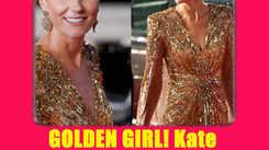 GOLDEN GIRL! Kate Middleton Glitters in a Sequined Jenny Packham