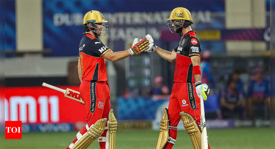IPL 2021, RCB vs RR: Royal Challengers Bangalore beat Rajasthan Royals to strengthen playoffs spot claim   Cricket News – Times of India