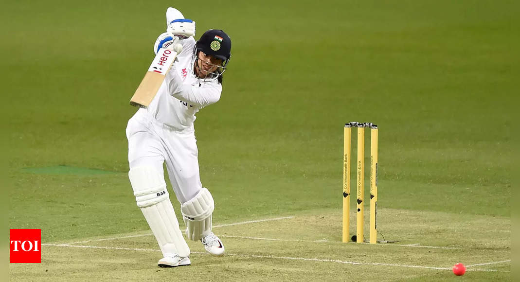 mandhana:  Day/Night Test: Mandhana scores career-best 80 not out as India reach 132/1 at tea   Cricket News – Times of India