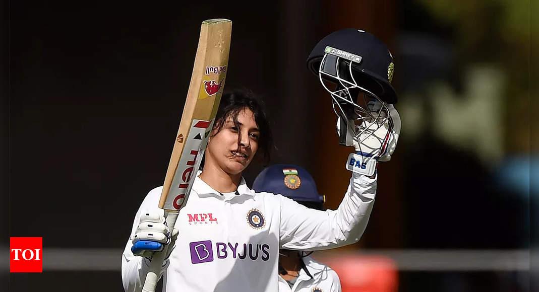 Pink Ball Test: Smriti Mandhana falls after maiden ton, India 231/3 against Australia | Cricket News – Times of India