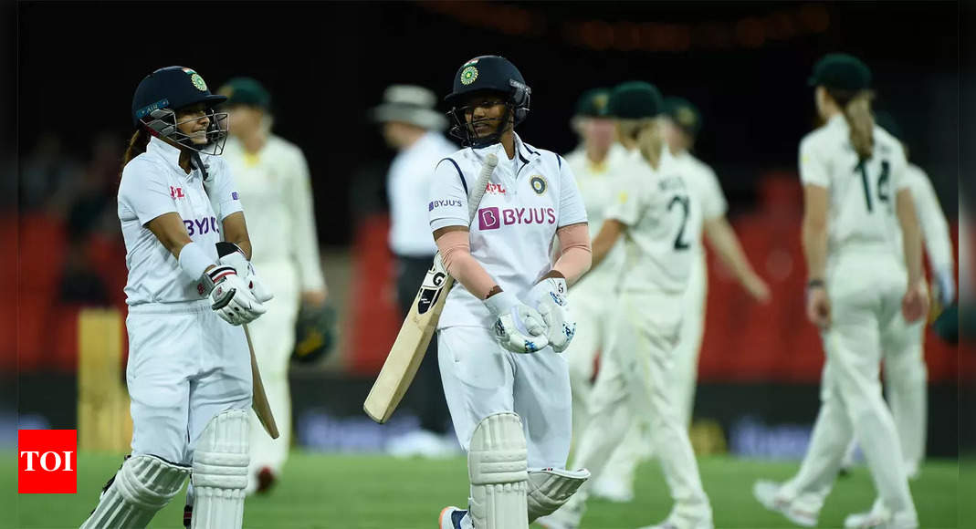 India Women vs Australia Women, Pink Ball Test: Lightning, heavy rain force early stumps on Day 2 as India reach 276/5 | Cricket News – Times of India