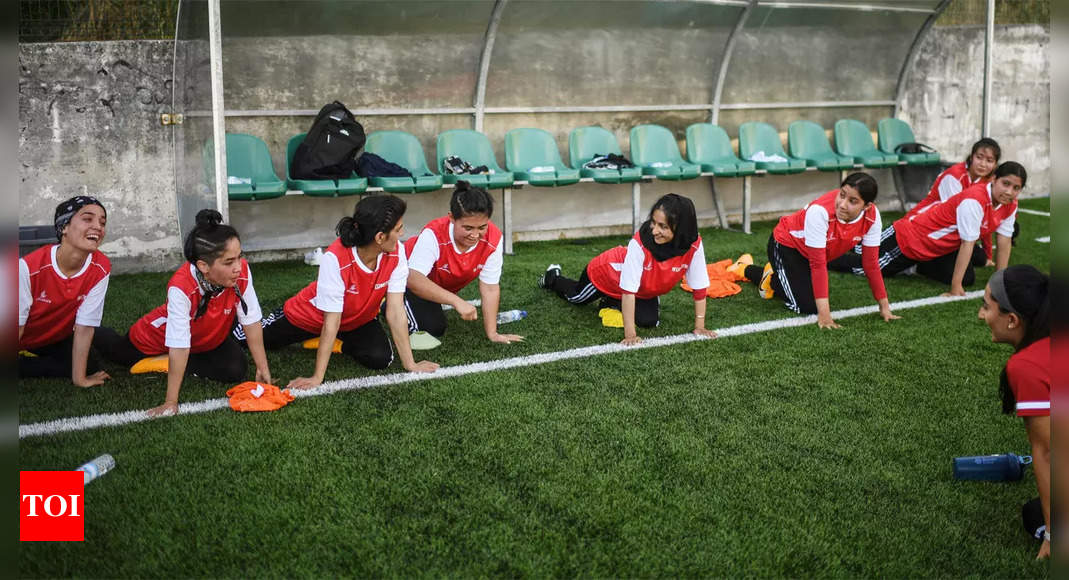 From Taliban to Ronaldo's land, Afghan women footballers train again   Football News – Times of India