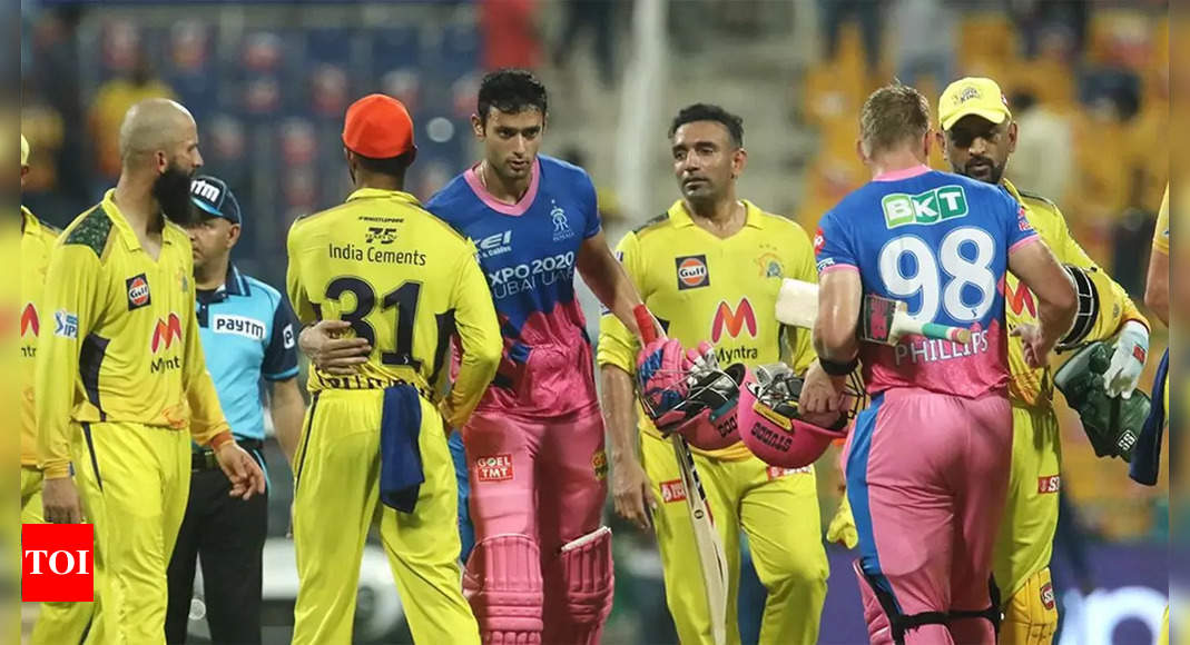 Rajasthan Royals vs Chennai Super Kings Highlights: Jaiswal, Dube fifties overshadow Gaikwad hundred as RR thrash CSK | Cricket News – Times of India