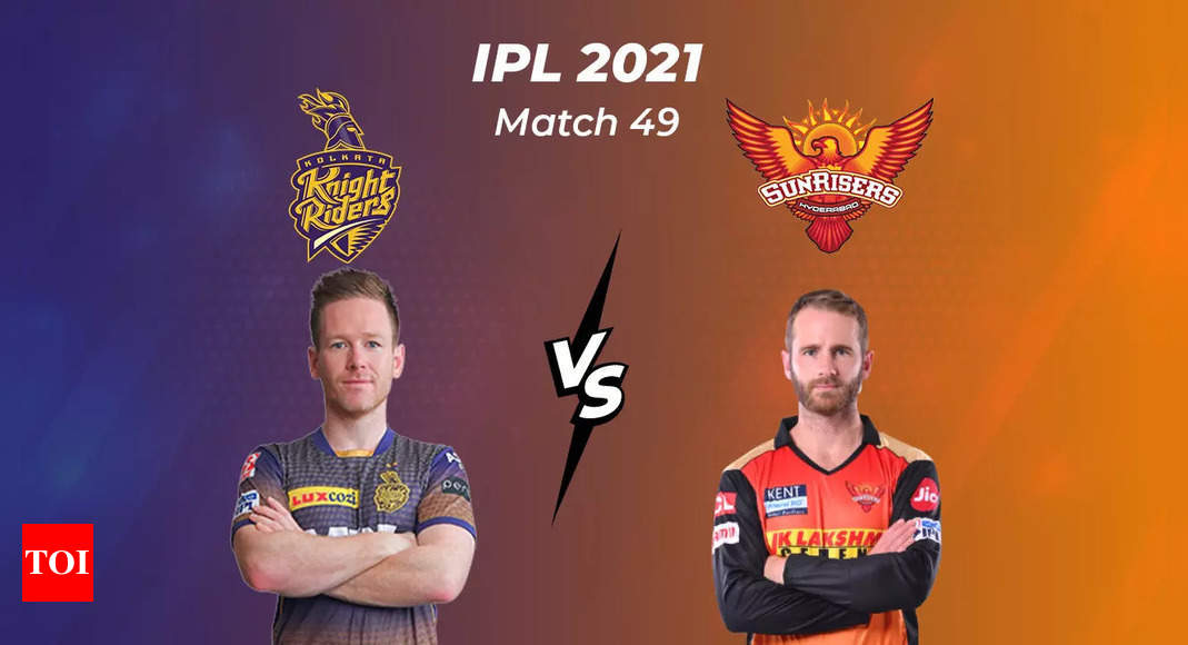 IPL Live Score 2021, KKR vs SRH: Kolkata Knight Riders look to stay in contention  – The Times of India