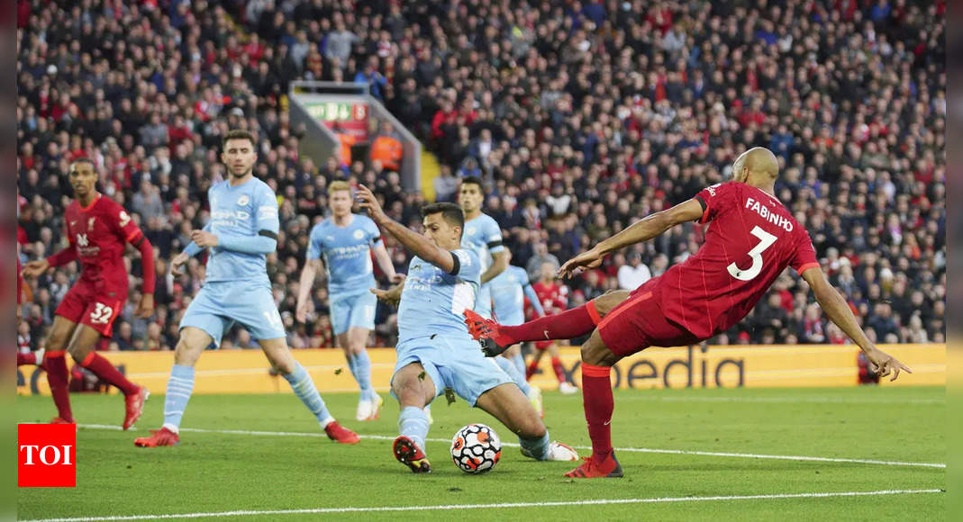 Liverpool and Manchester City draw 2-2 in Premier League | Football News – Times of India