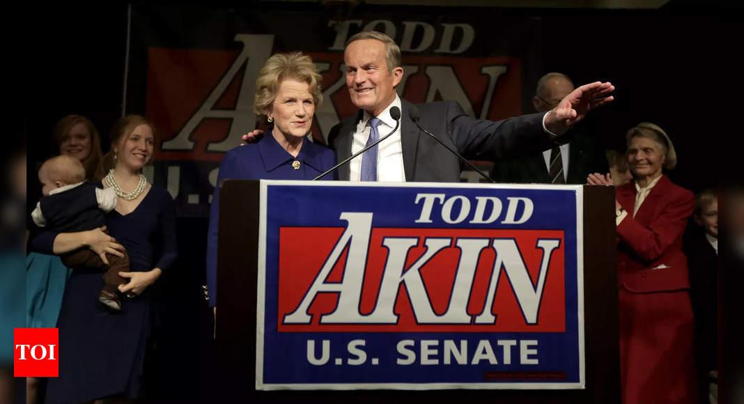, Ex-US Rep. Todd Akin, sunk by 'legitimate rape' remark, dies, The World Live Breaking News Coverage & Updates IN ENGLISH