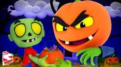 English Nursery Rhymes: Kids Video Song in English 'There's A Scary Pumpkin - Halloween'