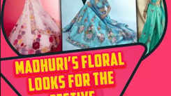 Madhuri's floral looks for the festive season