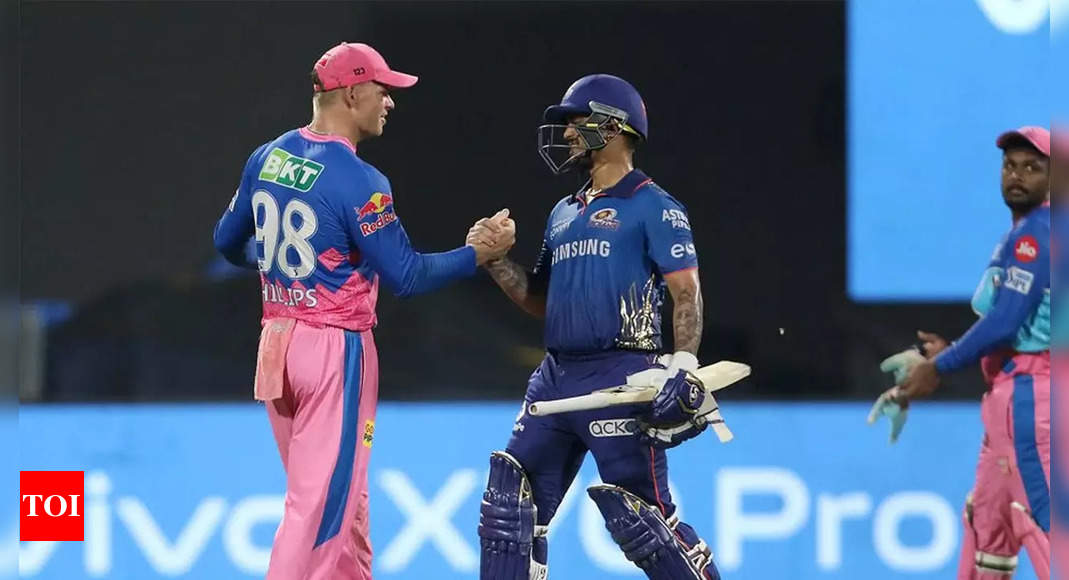 Rajasthan Royals vs Mumbai Indians Highlights: Neesham, Coulter-Nile knock Royals out of IPL as MI live to fight another day | Cricket News – Times of India