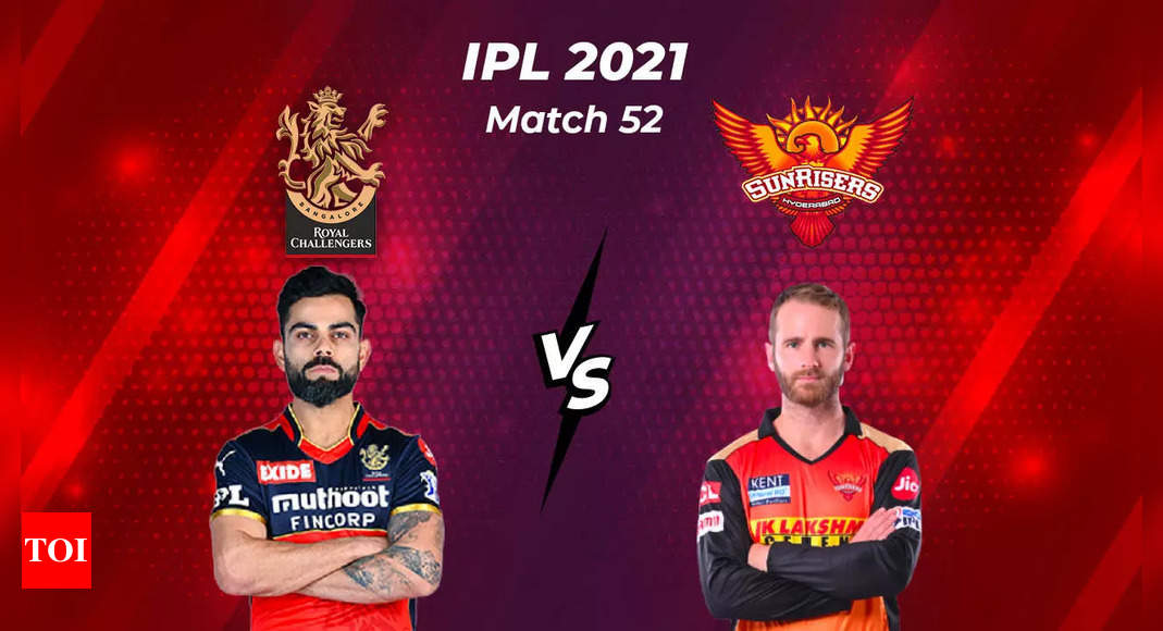 IPL Live Score 2021, RCB vs SRH: RCB opt to bowl  – The Times of India : 2.4 : Sunrisers Hyderabad : 15/1