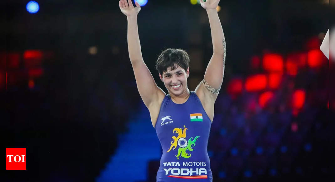 Anshu takes home silver, Sarita bags bronze in Indian women's best show at World Wrestling Championship | More sports News – Times of India