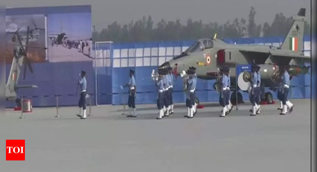 Air Force Day parade commences at Hindon Air Force Station