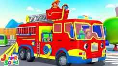 English Nursery Rhymes: Kids Video Song in English 'Wheels On The Firetruck'