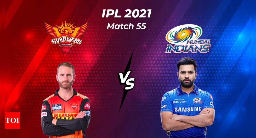 IPL Live Score 2021, SRH vs MI: Mumbai Indians need a miracle  – The Times of India