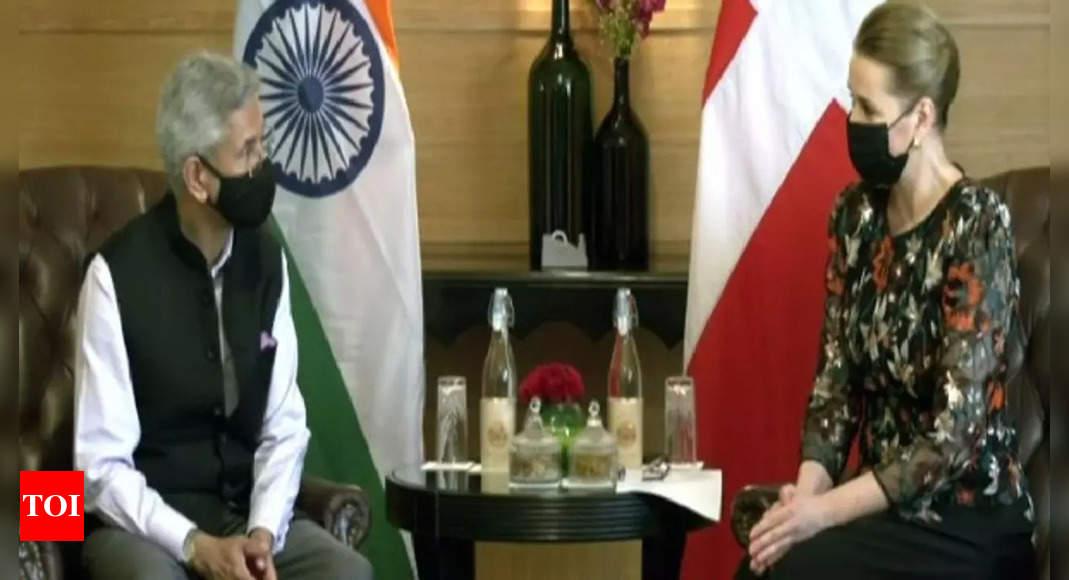 External Affairs Minister S Jaishankar meets Danish PM in New Delhi