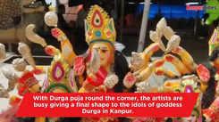 Durga idols get final shape in Kanpur