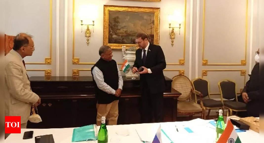 Rajya Sabha Deputy Chairman Harivansh meets Russian counterpart on sidelines of G-20 Speakers Summit