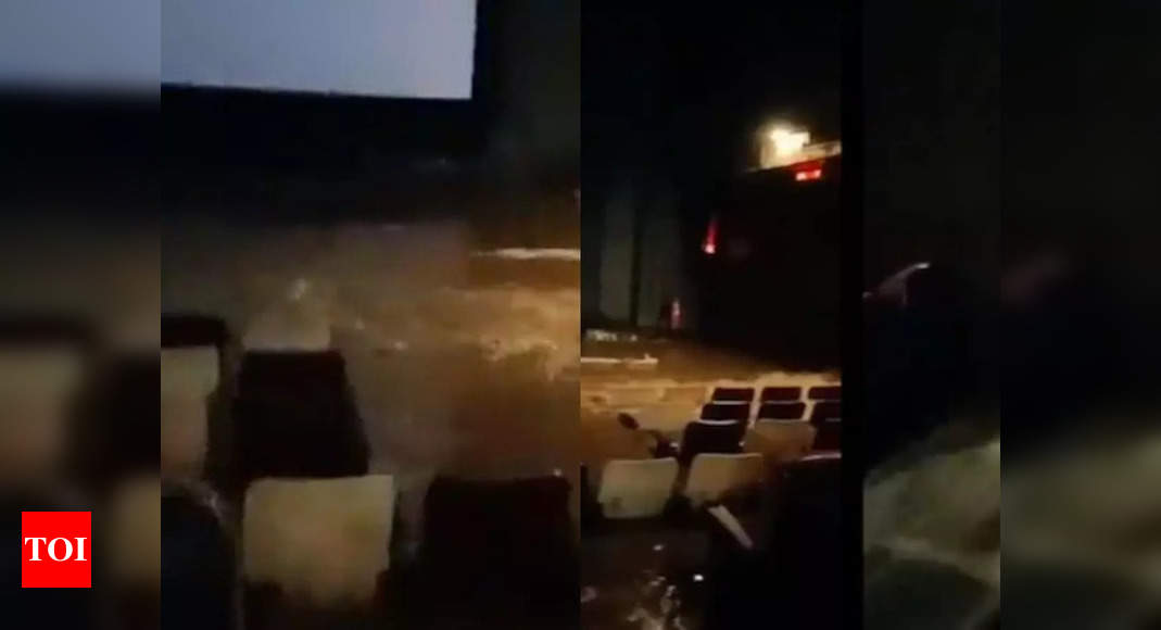 , Theatre gets flooded in Hyderabad, The World Live Breaking News Coverage & Updates IN ENGLISH