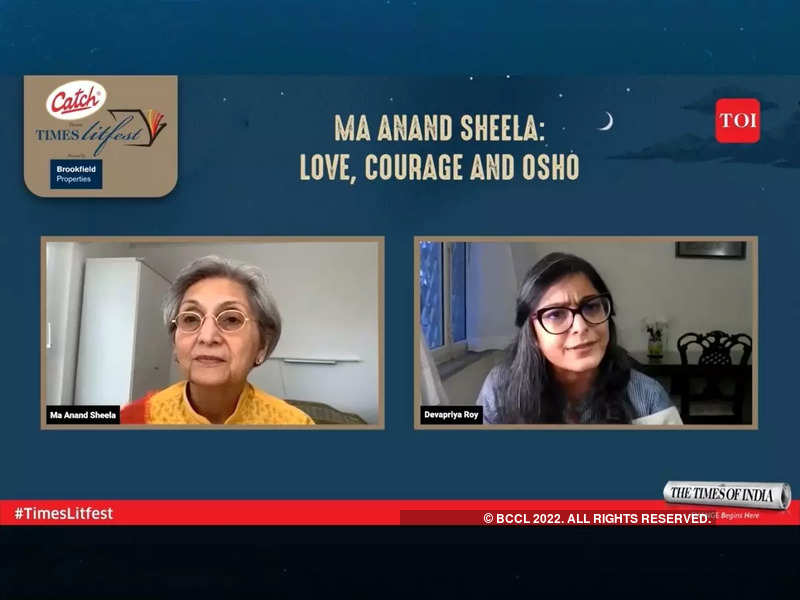 Ma Anand Sheela in conversation with Devapriya Roy at the Times Litfest 2021