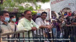 Prakash Raj and Naresh address rumours of their fight at MAA Elections 2021