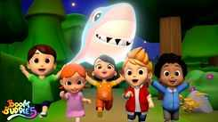 English Nursery Rhymes: Kids Video Song in English 'Scary Flying Shark'