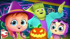 English Kids Poem: Nursery Song in English 'Monster Dance Party - Its Halloween Nights'