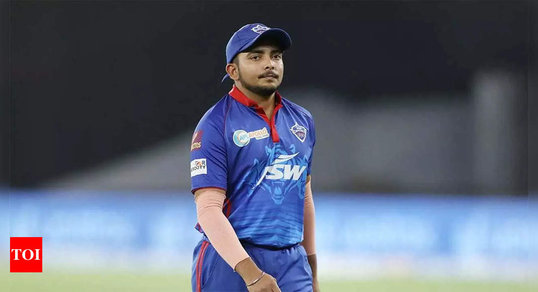 IPL 2021: MS Dhoni is something different, says awestruck Prithvi Shaw   Cricket News – Times of India