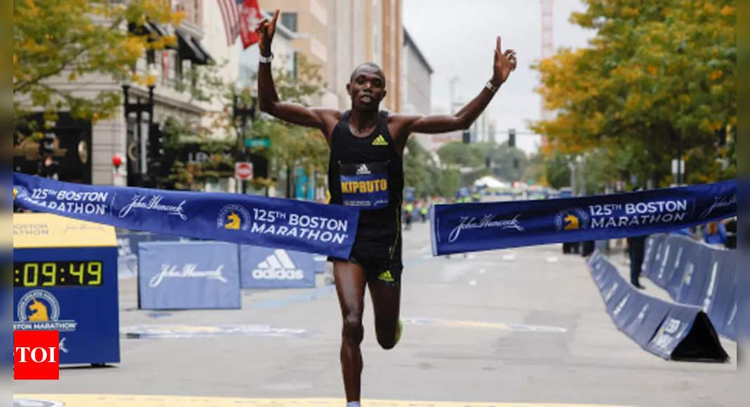 Kenya's Benson Kipruto wins Boston Marathon   More sports News – Times of India