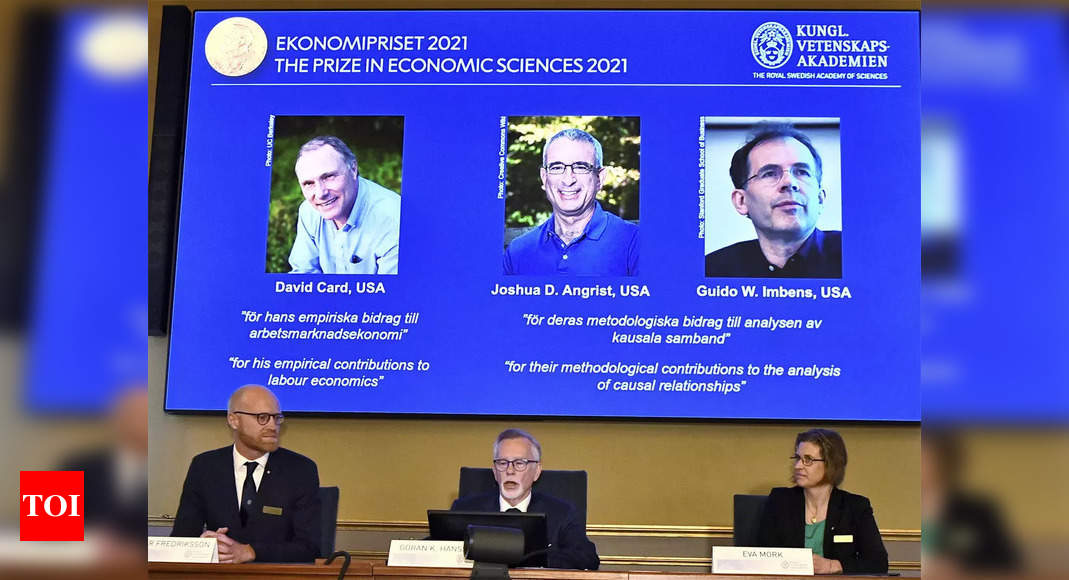 , 3 US-based economists win Nobel for research on wages, jobs, The World Live Breaking News Coverage & Updates IN ENGLISH