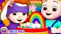 English Kids Poem: Nursery Song in English 'The Rainbow Cake – Color'