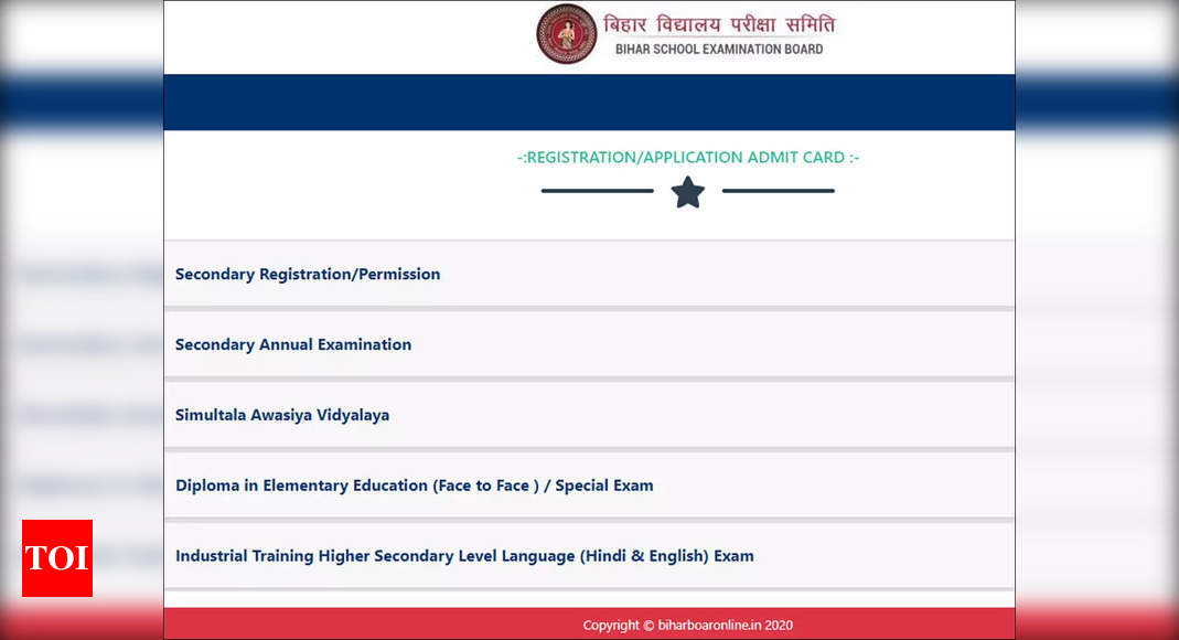 Bihar Board dummy admit card 2022 for class 10th released, download here
