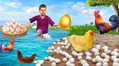Watch Latest Children Hindi Nursery Story 'Primitive Chicken Golden Eggs' for Kids - Check out Fun Kids Nursery Rhymes And Baby Songs In Hindi