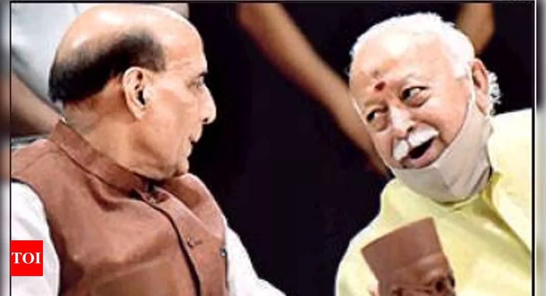 Rajnath Singh, Mohan Bhagwat slam 'drive to vilify Savarkar'