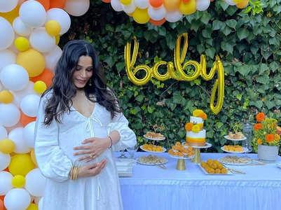 Freida shares inside pics from her baby shower