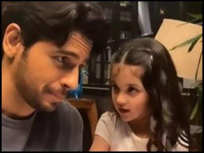 Sid shares cute video with little Kiara Advani