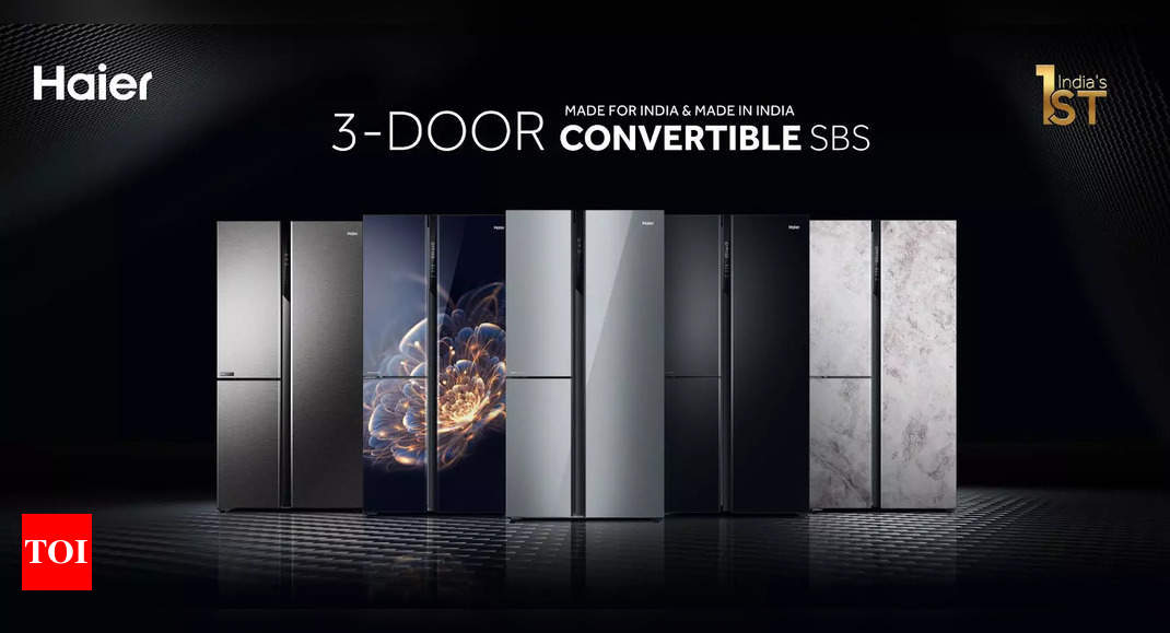 Haier launches India's first 'Made in India', 2 and 3 door convertible side by side refrigerator series
