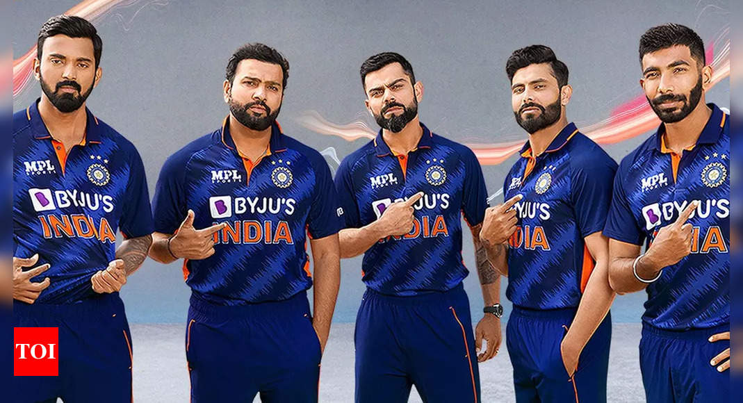 BCCI unveils Team India's new jersey ahead of T20 World Cup | Cricket News – Times of India
